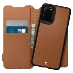 SPIGEN CIEL WALLET BRICK GALAXY S20+ PLUS SADDLE BROWN