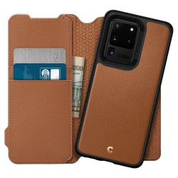 SPIGEN CIEL WALLET BRICK GALAXY S20 ULTRA SADDLE BROWN