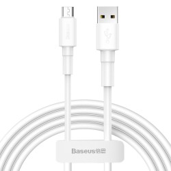 BASEUS MINI WHITE MICRO-USB CABLE 100CM WHITE