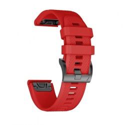 TECH-PROTECT SMOOTH GARMIN FENIX 3/5X/3HR/5X PLUS (26MM) RED